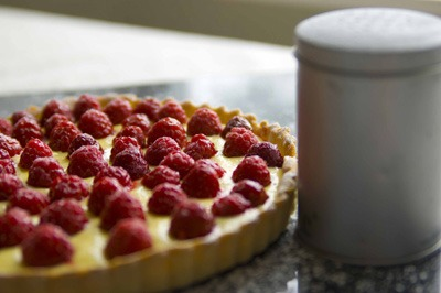 Raspberry and Elderflower Tart